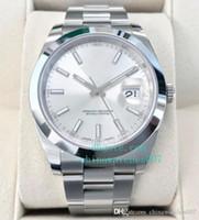 Bester Verkauf Uhr V2 41mm 126300 Silber Index Asien 2813 Edelstahl mechanische Bewegung Automatik-Uhr original box