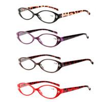 Leopard leesbrillezers Presbyopia + 1.0 / + 1,5 / + 2.0 / + 2.5 / + 3.0 / + 3.5 Crystal Rhinestone Decoratie Presbyopic Eyewear LJJK1479