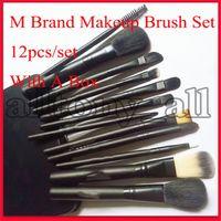 Drop Shipping M Marque Outils de maquillage 12 pcs maquillage Pinceaux Kit Voyage beauté Fondation professionnelle Cosmétiques pinceau de maquillage