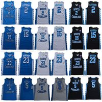 2020 North Carolina Tar Heels # 2 Cole Anthony 23 Michael 15 Vince Carter College Basketball Jerseys S-3XL New Style costurado