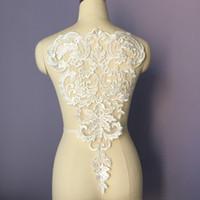 수용성 골드 수 놓은 개념 Applique 웨딩 드레스 액세서리 레이스 트림 수제 DIY 패치 LP008에 바느질