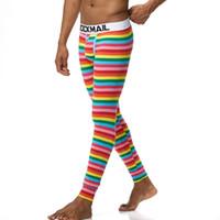 Мода Марка Мужчины Лонг Джонс хлопок Basic поножи термобельё Homme Cueca Стволы геев Thermo Лонг Джонс Трусы
