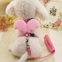 Lindo ángel perro mascota correas y collares fijados cables de cachorro para perros pequeños gatos ala Ala ajustable Arnés de perro Accesorios para mascotas