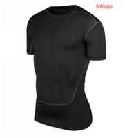 NOVO 2019 verão skinny active sport collants correndo corrida GINÁSIO treinamento de basquete de futebol t shirt suor seca rápida tops t camisas dos homens