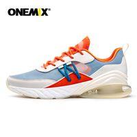 Onemix tênis masculino tênis de corrida verão respirável malha almofada arcorte calçados ao ar livre atlético formadores tênis feminino