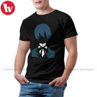 Black Butler T Shirt Phantomhive T-shirt 3XL Rolig Tee Shirt Fashion 100 Bomull Korta Ärmar Mens Tshirt
