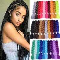 24-дюймовые джамбо плетеные волосы 5 шт. Kanekalon волосы природа чистый цвет высокотемпературные синтетические плетеные волосы