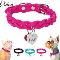 wholesale Suede Leather Dog Collar Braided Dog Puppy Cats ID...