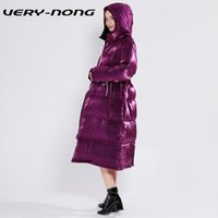 VERY- NONG2019 winter new ladies crystal velvet purple glossy...