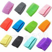 Forno Mini doce cor Luvas de Silicone Heatproof Anti-escaldante Luvas para cozinhar titulares braçadeira pote e Potholders Cozinha ToolsT2I5550