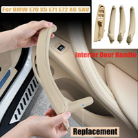1pcs voiture droit interne panneau Poignée de porte Garniture Tirer la couverture pour BMW X5 E70 E71 E72 X6 Accessoires voiture SAV