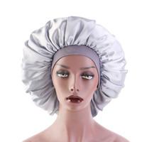 مرونة عالية واسعة الحواف المرأة العمامة قبعة كبيرة طباعة الحرير بونيه النوم كاب بونيه المرأة العمامة قبعة للزينة الشعر