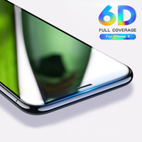 500PCS 6D Full Cover Tempered Glass For iPhone 8 7 6 6S Plus X XS MAX glass iphone 7 8 x screen protector Protective glass