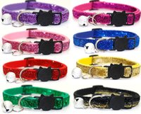 Huisdier Kraag Pet Cat Head Safety Gesp Small Dog Patch Pailletten Bell Collar GB937