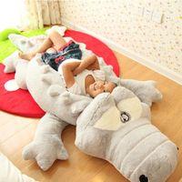 Pillow Creative Oversized Cute Crocodile Lying Section Plush Mat Hand Doll Stuffed Toy Cartoon Toys Kids Prize Gift