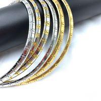 Edelstahl Frauen Choker Halskette Schmuck Kreuz Buchstaben Kette Hip Hop Anweisung Gold Silber Gold-Silber Farbe Kragen Zubehör CY11