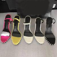 2020 Europa e America New PVC perline da donna, sandali diamantati ragazza vestito da fidanzamento con tacchi alti sandali spiaggia sandali da spiaggia 0101