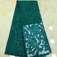 High Quality Embroidery African Lace Fabric Tulle Sequin Net...