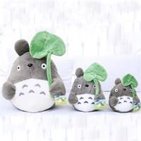 20cm Cartoon Movie Soft TOTORO Plush Toy Cute Stuffed Lotus Leaf Totoro Kids Doll Toys For Fans
