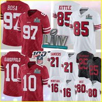 97 Nick Bosa San Francisco 85 George Kittle 49er 10 Jimmy Garoppolo Jersey Deion Sanders Richard Sherman Joe Montana Jerry Rice Formalar