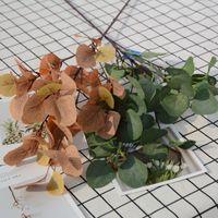 نبات اصطناعي الأوكالبتوس فرع مصنع الأخضر 93 سنتيمتر حديقة المنزل حزب ديكور diy مصنع جدار التصوير الدعائم VT0961