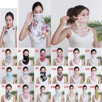 Viso donne sciarpa maschera antipolvere chiffon Fazzoletto antivento fronte mezzo Parasole maschere antipolvere maschere partito DA579