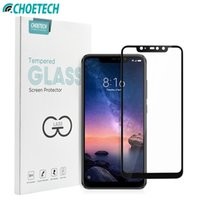 Para Xiaomi Redmi Note 6 Pro Glass Protection Glass Choetech 9H Full Gue Tempered Glass para Xiao mi Red mi 6 Pro Film Protector de pantalla
