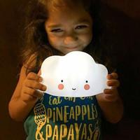 야간 조명 장식 구름 모양의 아이 침실 어린이 완구 따뜻한 흰색 빛 밤 램프 어린이 선물 구름 야간 조명 DH1067-1