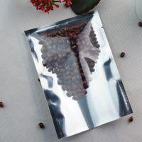 Bolsas de embalagem de alimentos, 7 * 10 cm folha de alumínio de prata bolsa plana-200pcs / lote dianteira lúcio em alumínio chapeamento mylar saco de ping, saco de plástico selado por calor