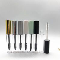 10ml bouteilles de tube de mascara composent le tube vide en plastique Transparent Portable Tube de mascara avec la brosse de cil brosse RRA1884