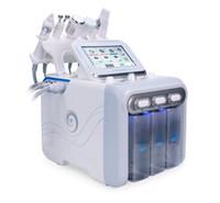 Portátil 6 en 1 Levante la piel Hydro Peel microdermoabrasión facial Hydra HydraFacial limpieza profunda de cara del RF belleza máquina de apriete Spa