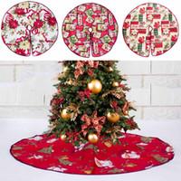 Rojo falda del árbol de Navidad Base de la flor del piso de Santa Cubierta de la alfombra de Navidad Decoración del partido Ornamento para el hogar No tejido Árbol de Navidad falda 60/90 cm