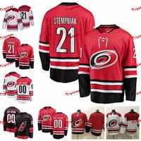 2011 Carolina Hurricanes Lee Stempniak Stitched Jerseys Personalizar camisas negras alternativas 21 Lee Stempniak Hockey Jerseys S-XXXL