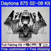 Body For Triumph Daytona 675 02 03 04 05 06 07 08 Daytona675 322HM.7 Daytona 675 Grigio nero stock 2002 2003 2004 2005 2006 2007 2008 Carena