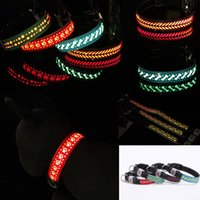 Led Lighting Pet Cat Dog Collar Carved Flower Cortex Cats Do...