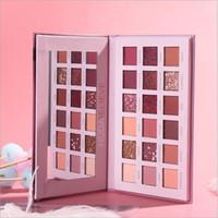 2019 HUDA acreditam Desert Rose rosa 18 cores Pearlescent brilho sombra Matte Paleta da sombra de olho