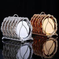6 unids/set Metal plata oro Color tarde té merienda RackServing pastel bandeja pastel fiesta y boda decoración bandejas