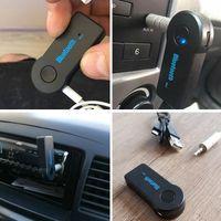 ستيريو الحقيقي 3.5MM الجديد الجري بلوتوث الصوت الموسيقى استقبال عدة السيارة ستيريو BT 3.0 المحمولة محول السيارات AUX A2DP يدوي الهاتف MP3
