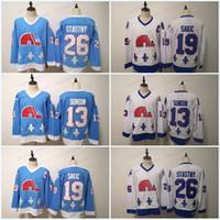 Quebec Nordas Inverno Clássico Jerseys Mens 19 Joe Sakic 13 Mats Sundin 26 Peter Stastny Ice Hockey Jerseys em estoque Rápido transporte