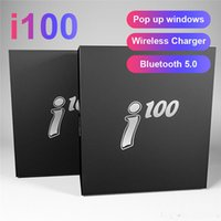 i100 TWS Wireless Bluetooth 5.0 Auricolare ricarica wireless Auricolari pop up per iPhone Xiaomi pk H1 W1 chip 2019 più recente