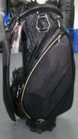 """Staff Golf Bag 2019 nuovo stile Coccodrillo Pattern TI CB914 Golf Caddy Bag 9 """"in nero OEM disponibile"""