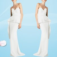 Einzigartiges Design Elegante weiße Abendkleider Liebsten Slim Fit Mermaid Prom Dresses Bodenlangen Mutter der Braut Kleider