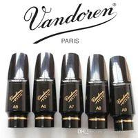 Yepyeni Vandoren V16 Ebonit Alto Saksafon Ağızlıklar bakalit Ağız adet Sax siyah Enstrüman Aksesuarları A5, A6, A7, A8, A9