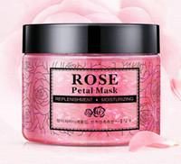 DHL 24 pz NUOVI Petali di Rosa Idratante Maschera per il viso Pelle Nutriente lifting Maschera Luminosa Petali di Argilla Maschere per Dormire Trattamento Maschera Nera
