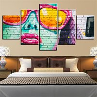 5 Panels Large Size Graffiti Framed Wall Art Print Picture P...
