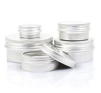 빈 알루미늄 립 밤색 컨테이너 화장품 크림 항아리 주석 공예 냄비 병 5 10 15 30 50 100g jxw490