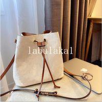 2021 여성 패션 양동이 가방 고품질 정품 가죽 어깨 가방 클래식 디자인 크로스 바디 네오노 가방 레이디 핸드백 먼지 가방