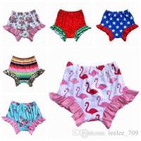 Temmuz Bloomers Yenidoğan fırfır Pp Pantolon Flamingo Çiçek bezin Bebek Kız Şort 4 Küçük Kız Giyim Bebek Giyim Yeni Kapaklar