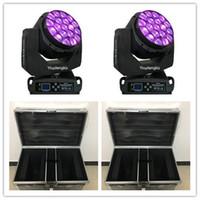 4 adet / grup Büyük 19 * 15 W Arı Gözler LED Hareketli Kafa Yakınlaştırma Işık kil paky aleda yıkama k10 B GÖZ ışın motionhead ile flightcase