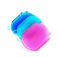 Banyo Eldiven Peeling Duş Banyo Fırça Vücut Temizleme Için Silikon Peeling Fırçası Scrubber Banyo Fırçalama Eldiven Spa SN2870